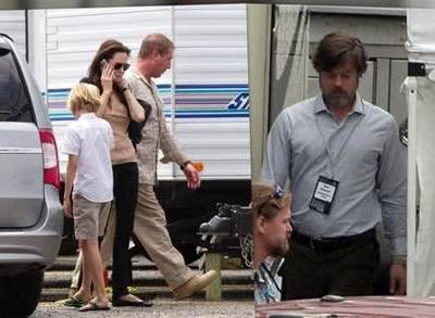 News video: Angelina Jolie Visits Brad Pitt On Set in New Orleans